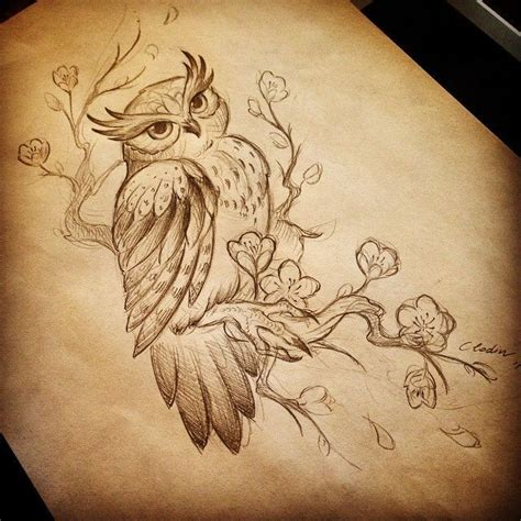 owl tattoo drawing pin by covert on tattoos i want