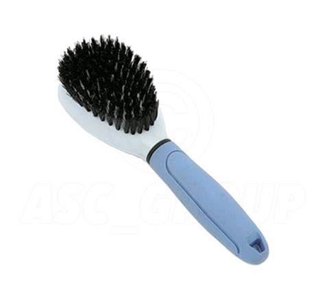 grooming bristled brush with rubber grip handle ebay