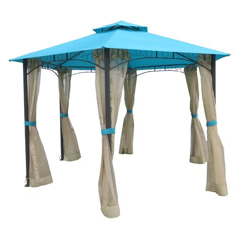gazebo drapes international caravan st kitts 10 ft aluminum outdoor