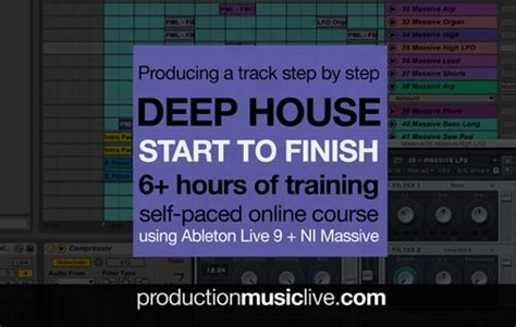 how to start producing house music production music live deep house track from start to finish tutorial