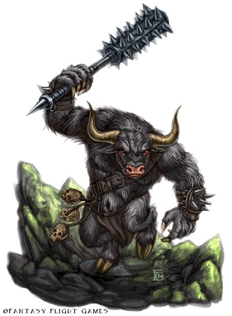 minotaur for talisman by feliciacano on deviantart