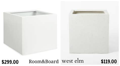 Get The Look For Less Room Board Dining Room Dwell Room And Board Planters