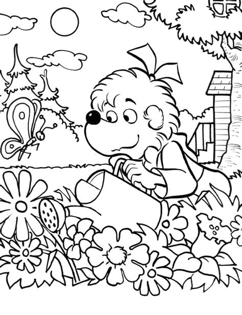 Flower Garden Coloring Pages For by Flower Garden Coloring Pages Color