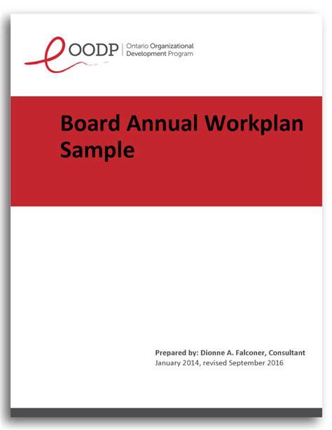 board annual plan  ontario organizational development program oodp