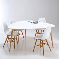 table ronde 6 personnes pied central table de salle 224 manger 6 personnes jimi blanc la redoute