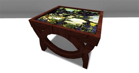stained glass desk l second life marketplace end stained glass top