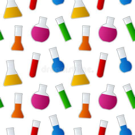 seamless pattern test chemical test tubes seamless pattern royalty free stock