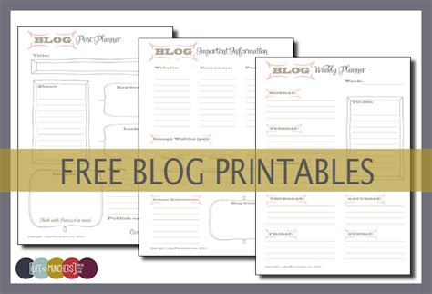 printable blog planner printable blog planners organise your blog family
