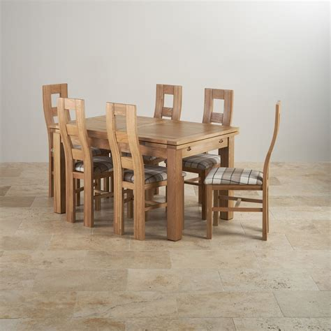 extending oak dining table and chairs dorset dining set in oak table 6 patterend chairs