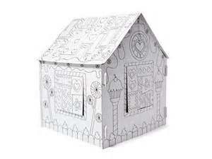 cardboard house to color jumbo color in house cardboard playhouse woot