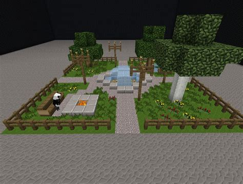 3d Home Design 8 small park minecraft project