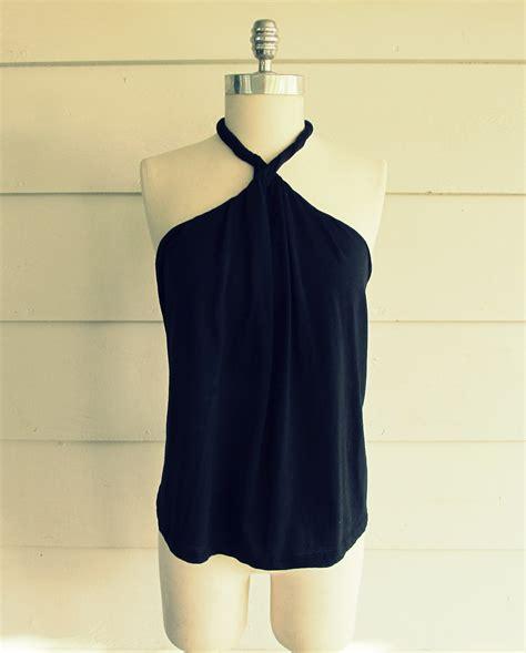 Halter Shirt wobisobi no sew diy shirt halter 2