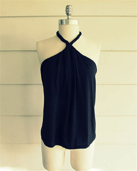 Tshirt Acerbis 2 One Clothing wobisobi no sew diy shirt halter 2