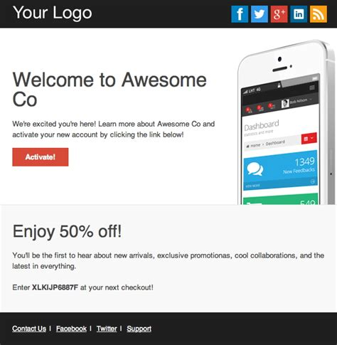 Top 20 Best Responsive And Open Source Html Email And Newsletter Templates Our Code World Open Source Html Email Templates
