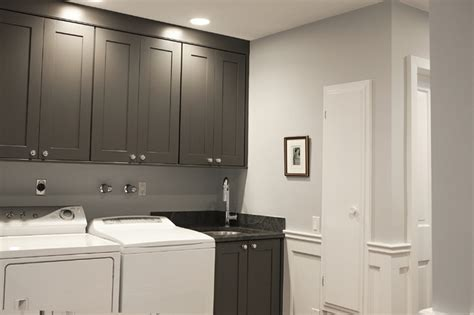 Superior Charcoal Gray Kitchen Cabinets #7: Traditional-laundry-room.jpg