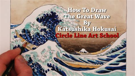 hokusai a life in how to draw the great wave by hokusai youtube