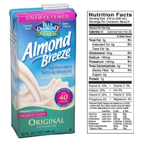 carbohydrates in 8 oz milk almond almond milk healthy food