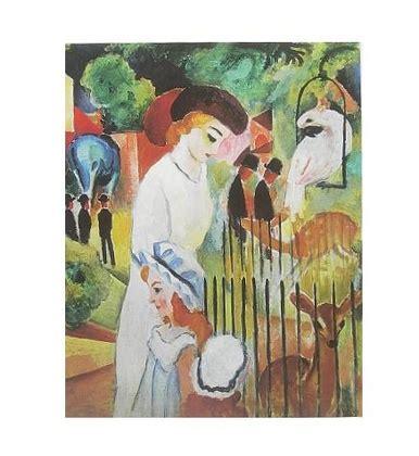 zoologischer garten macke august macke grosser zoologischer garten triptychon poster