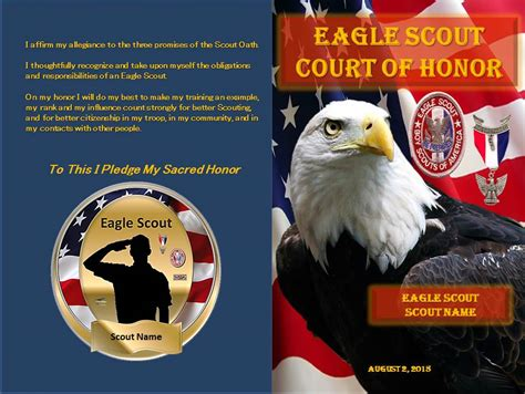 eagle court of honor invitation template eagle scout court