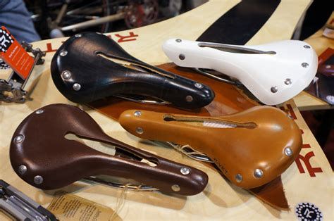 leather bike saddles found rivet cycleworks classic leather bicycle saddles bags more bikerumor