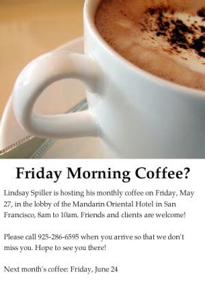 Coffee Morning Invitations Templates Friday Quotes Coffee Morning Quotesgram