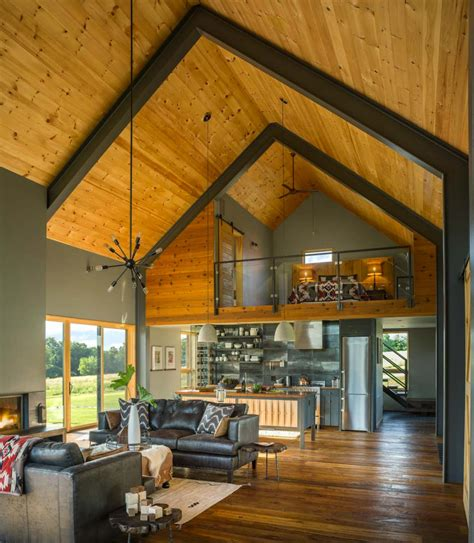 modern style homes interior small and cozy modern barn house getaway in vermont