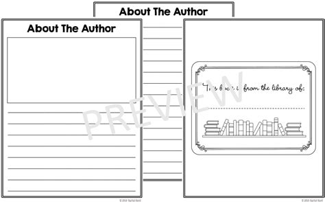 templates for authors free book template printables k tutoring