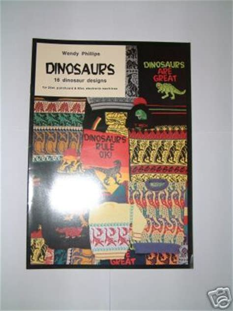 wendy phillips knitting wendy phillips dinosaurs book for machine knitting m827