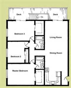 Three Bedroom Floor Plan by Elliott Apartments Floorplans
