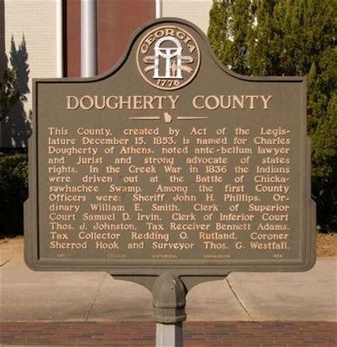 Dougherty County Property Records Dougherty County Historical Marker