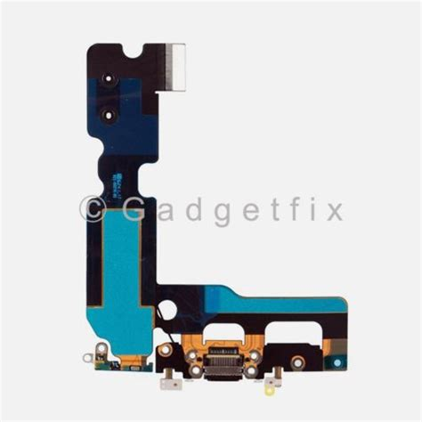 black charging charger port flex cable mic antenna replacement for iphone 7 plus 352013705246