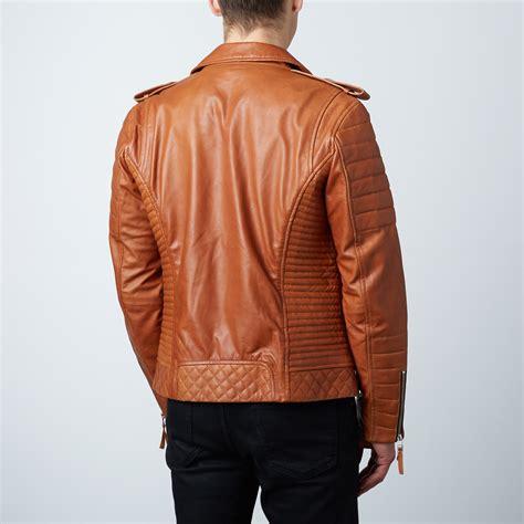 design jacket modern quilted biker leather jacket tan xs luca designs