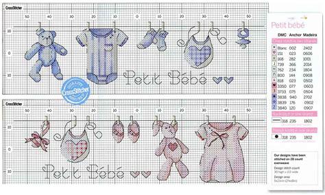 cross stitch pattern clothes line boy girl baby clothes line cross stitch babies kids