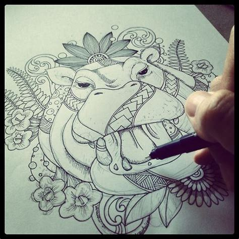 hippo tattoo designs 25 best ideas about hippo on small