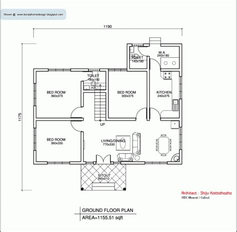 wonderful 2 bedroom house plans kerala style diagrams