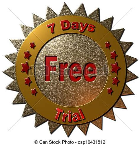 7 Day Free Trial Search Clipart Of 7 Days Free Trial A Gold And Seal Stating Quot 7 Days Free Csp10431812