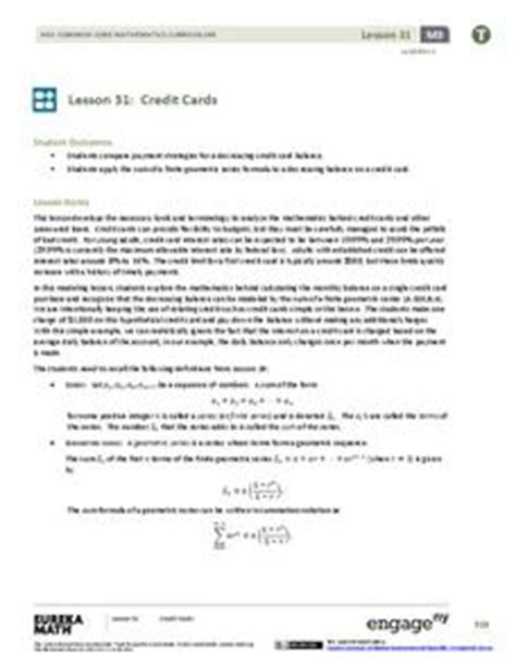 Sle Credit Card Application Lesson Plan Credit Cards 6th 8th Grade Lesson Plan Lesson Planet