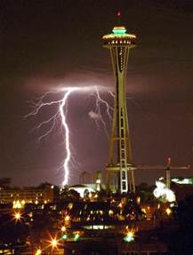 seattle lighting seattle s space needle today