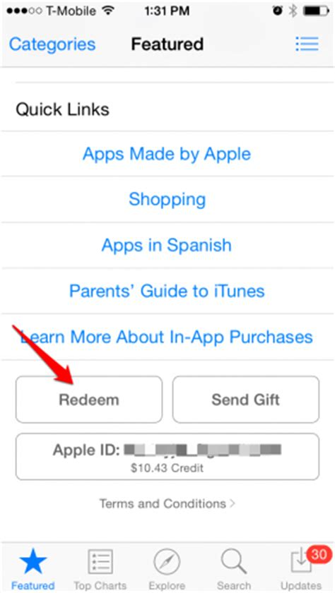 How To Redeem An App Store Gift Card - how to redeem itunes gift cards on iphone or ipad