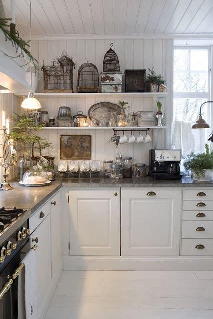 kitchen white grey black chippy shabby chic whitewashed cottage country rustic
