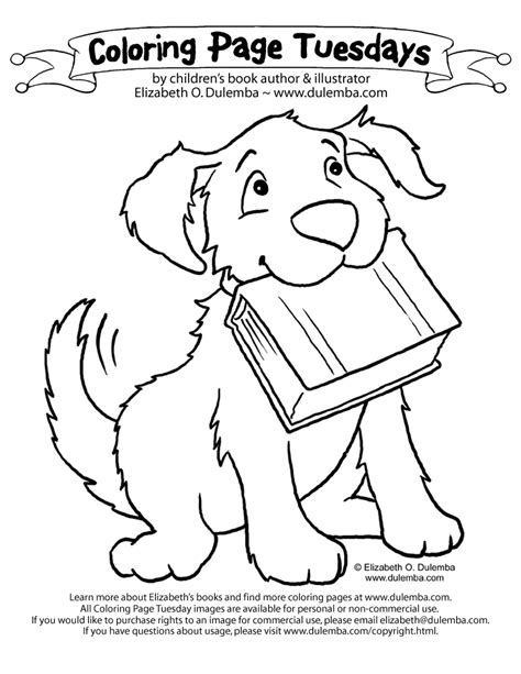 dog coloring pages dog with a blog coloring pages kids