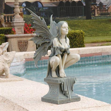 gothic fairy celtic plinth magical mystical yard garden