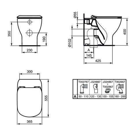 ideal standard vaso ideal standard t353701 tesi vaso a terra aquablade 174 filo