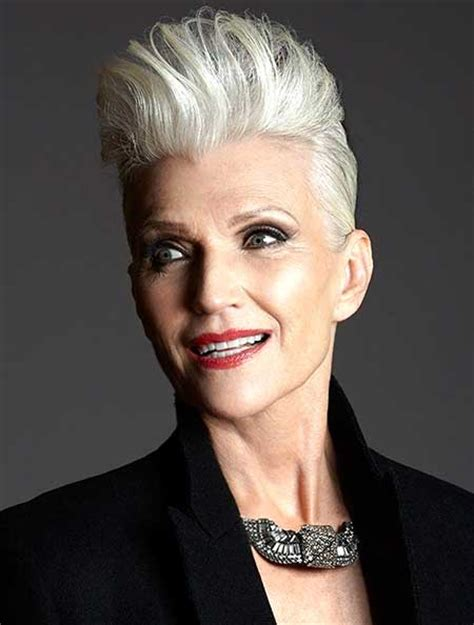 old lady mohawk best short haircuts for older women 2014 2015 short