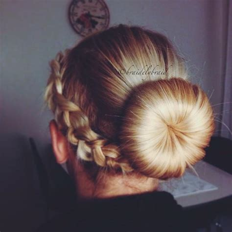 donut with a braid around it doughnut braid bun hairstyles how to