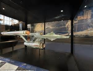 starship enterprise model with lights smithsonian unveils restored enterprise flies model used