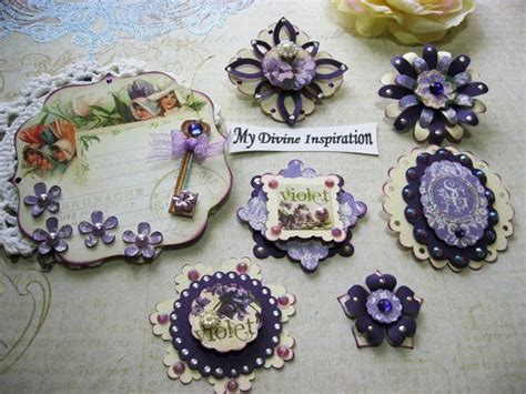 Handmade Embellishments For Scrapbooking - 17 best images about secret garden on easels