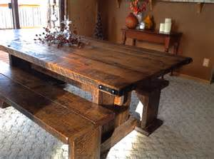 salvaged wood dining room tables reclaimed wood trestle dining room tables