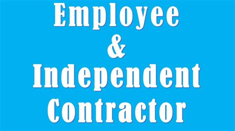 differences employee independent contractor difference between employee and independent contractor
