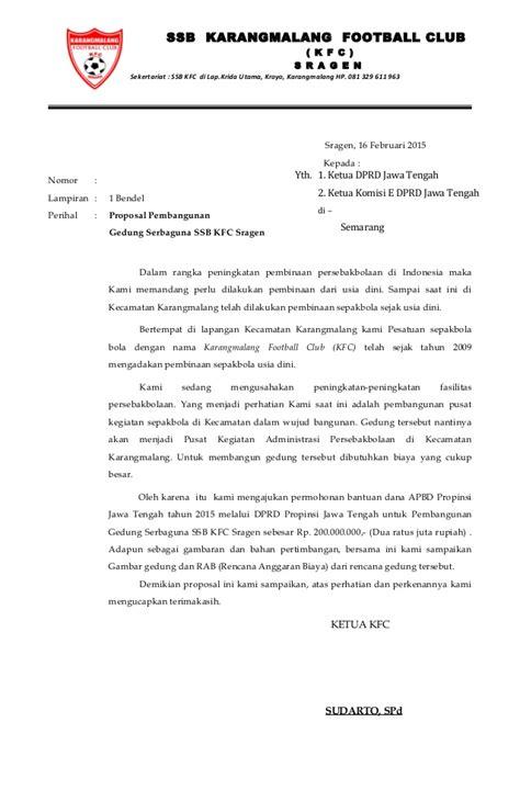 Surat Pengantar Sponsor by Surat Pengantar